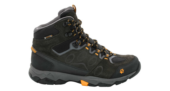 Jack Wolfskin MTN Attack 5 Texapore Mid Hiking Shoes Men burly yellow